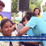 Lambayeque: Lanzan campaña para vacunar a 60 mil niños