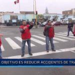 Campaña vial para reducir accidentes de tránsito