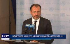 México pide a ONU velar por sus inmigrantes en EE.UU.