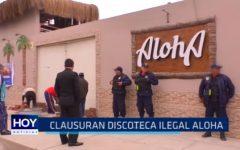 """Clausuran discoteca ilegal """"Aloha"""""""