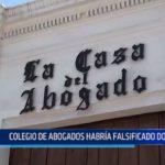 Colegio de Abogados habría falsificado documentos