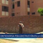 Controversia por construcción en la vía pública en urbanización Los Pinos