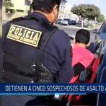 Detienen a cinco sospechosos de asalto al paso