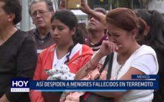México: Así despiden a menores fallecidos en terremoto