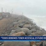 """Dirigente de Buenos Aires: """"Todos debemos tener acceso al estudio sobre la erosión costera"""""""