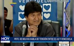 Presidente de Bolivia habla de tensión entre EE.UU. y Venezuela