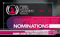 Posponen nominaciones al Grammy Latino debido a terremoto en México