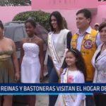 Reinas y bastoneras visitan el Hogar de la Niña