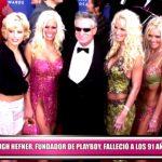 """Hugh Hefner, fundador de """"Playboy"""", falleció a los 91 años"""