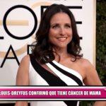 Julia Louis-Dreyfus confirmó que tiene cáncer de mama