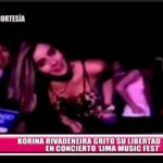 "Korina Rivadeneira gritó su libertad en concierto ""Lima Music Fest"""