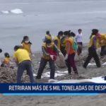 Huanchaco: Retiran más de cinco mil toneladas de desperdicios