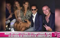 Marc Anthony celebró su cumpleaños junto a su novia en concierto de Jennifer López