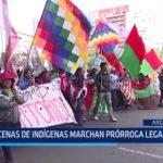 Argentina: Decenas de indígenas marchan por prórroga legal