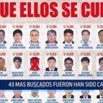 43 de los prófugos más buscados han sido capturados