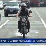 """Viceministro del Interior: """"Proyecto contra motociclistas fue mal entendido"""""""