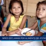 Iquitos: Niños reclaman por alimentos del Estado
