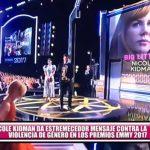 Nicole Kidman da mensaje contra la violencia de género en los premios Emmy 2017
