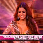 Prissila Howard representará a Perú en certamen Miss Universo 2017
