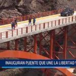 Santiago de Chuco: Inauguran puente que une La Libertad y Áncash