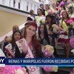 Reinas y waripolas fueron recibidas por Gobierno Regional y Municipalidad Provincial