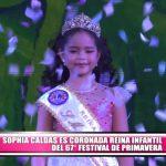 Sophia Caldas es coronada Reina Infantil del 67° Festival de la Primavera