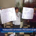 Trabajadores defienden a presidente de Beneficencia Pública