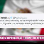 Famosos se expresan por redes sociales tras terremoto en México