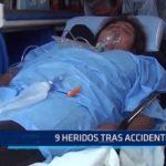 Santa: 9 heridos tras accidente