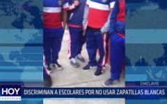 Chiclayo: Discriminan a escolares por no usar zapatillas blancas