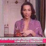 PlayBoy dedica sus páginas centrales a una modelo transexual