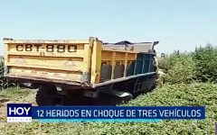 Ascope: 12 heridos en choque de tres vehículos en Panamericana Norte