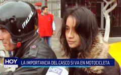 Trujillo: La importancia del casco si va en motocicleta