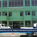 Chimbote: Remueven a jefe de Tránsito por investigación en su contra