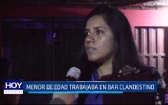 Huanchaco: Menor de edad trabajaba en bar clandestino