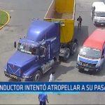 Moche: Conductor intentó atropellar a su pasajero
