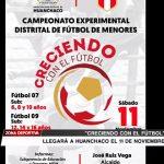 """""""Creciendo con el fútbol"""" en Huanchaco el 11 de noviembre"""
