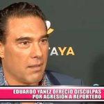 Eduardo Yáñez ofreció disculpas por agresión a reportero