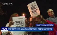 España: En Barcelona protestan por encarcelamiento de independentistas