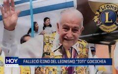 """Club de Leones: Falleció ícono del leonismo """"Toti"""" Goicochea"""