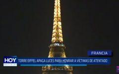 Francia: Torre Eiffel apaga luces para honrar a víctimas de atentado