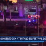 50 muertos en atentado en Festival de Las Vegas
