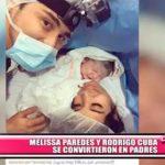Melissa Paredes y Rodrigo Cuba se convirtieron en padres