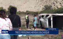 Chimbote: 13 personas heridas en choque