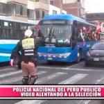 Policía Nacional del Perú alienta de forma muy curiosa a nuestra selección