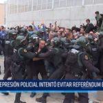 Represión policial intentó evitar referéndum en Cataluña