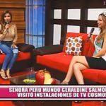 Señora Perú Mundo Geraldine Salmón visitó instalaciones de TV Cosmos