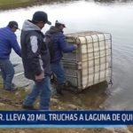 G. R. lleva 20 mil truchas a laguna de Quiruvilca