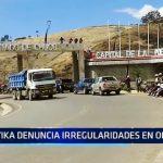 Congresista Yika denuncia irregularidades en obras
