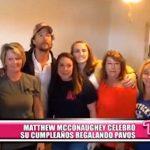 Internacional: Matthew McConaughey celebró su cumpleaños regalando pavos